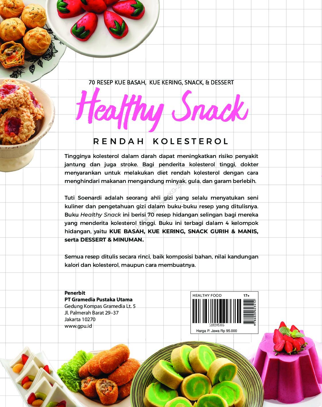 Jual Buku Healthy Snack Rendah Kolesterol Oleh Tuti Soenardi