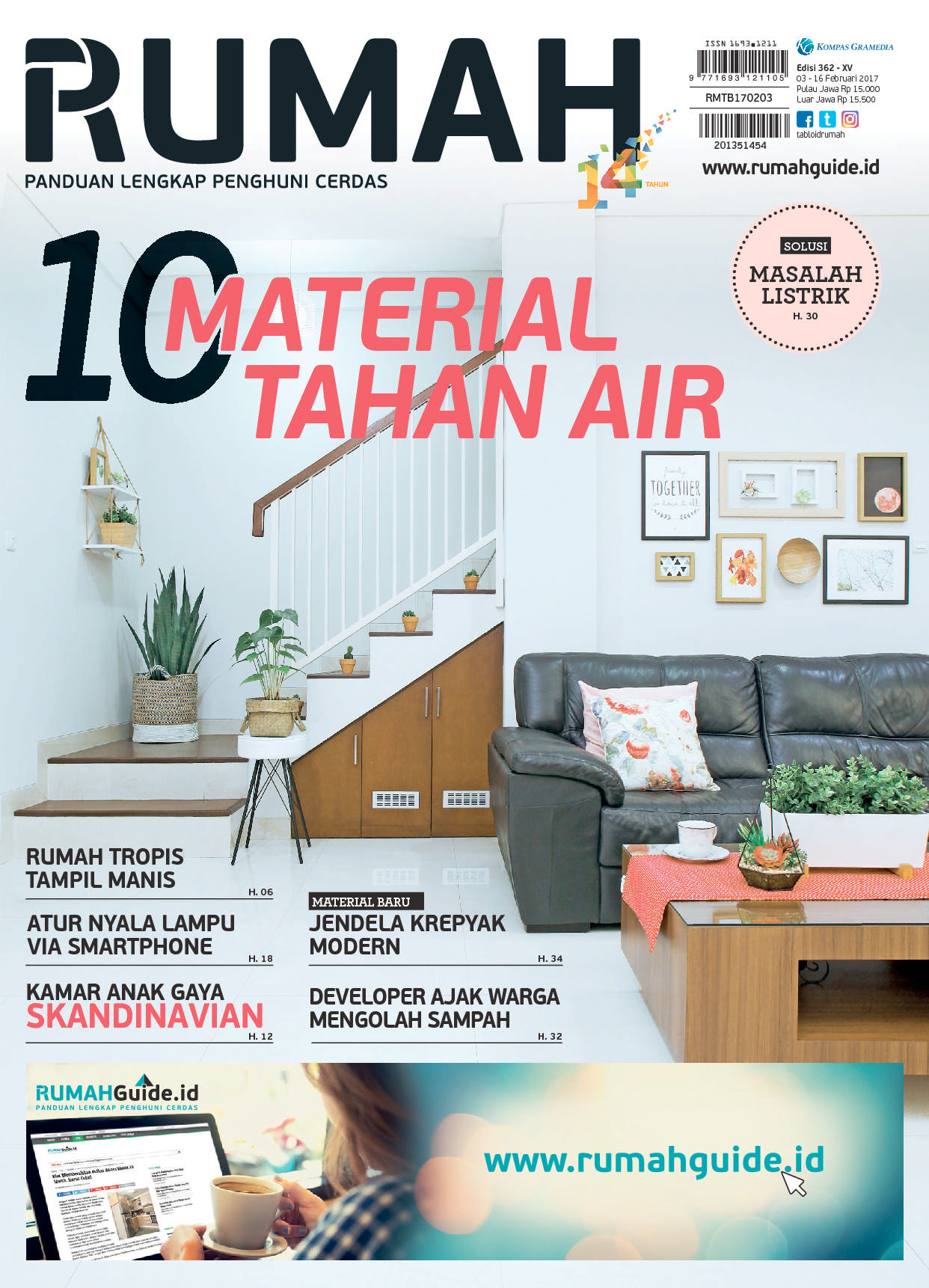 Jual majalah tabloid rumah ed 362 2017 gramedia digital indonesia