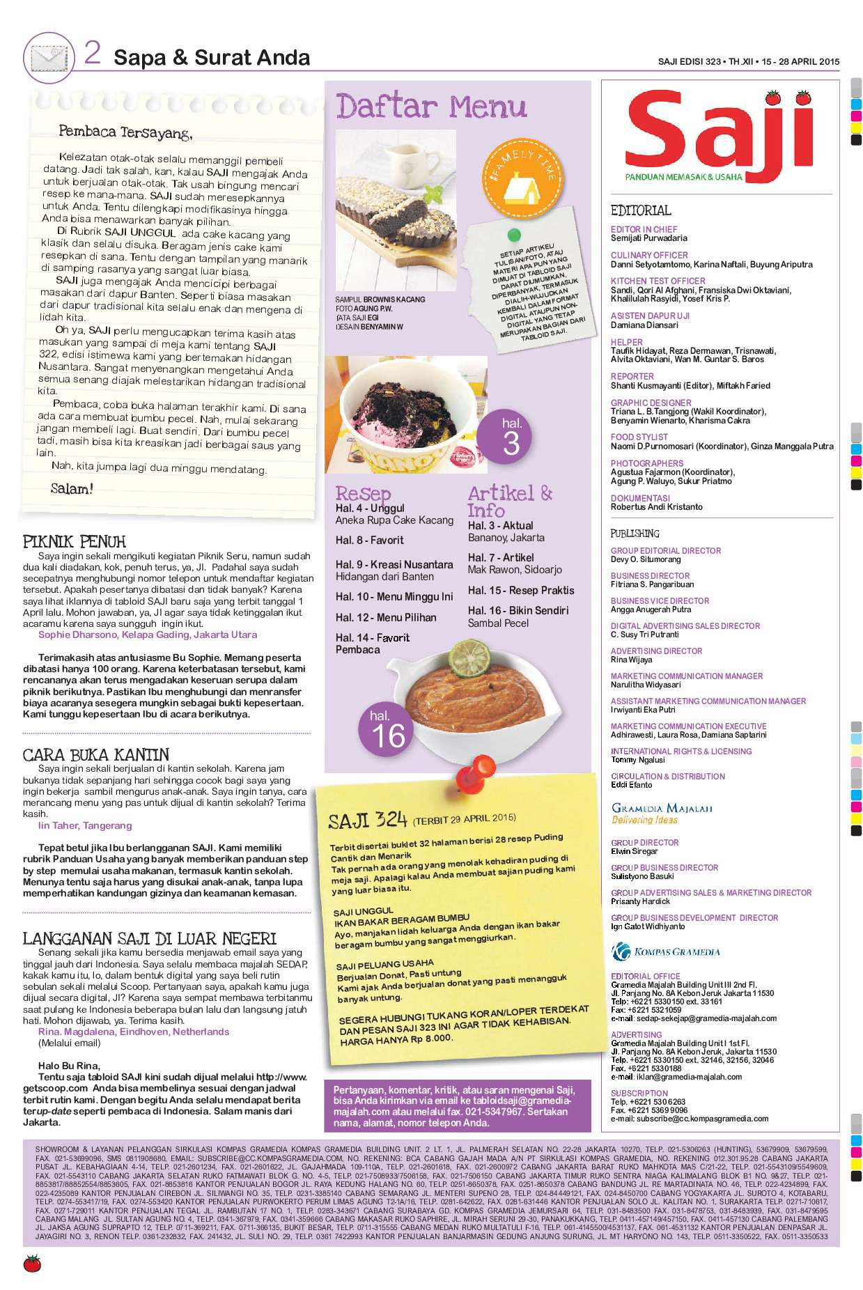 Saji Magazine Ed 323 2015 Gramedia Digital Kacang Sambal By Dua Putri Bjb 3