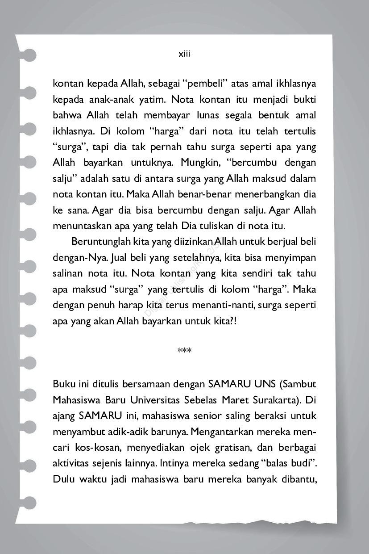 Nota Kontan Untuk Tuhan Book By Dr Muhammad Syukri Dan Dr