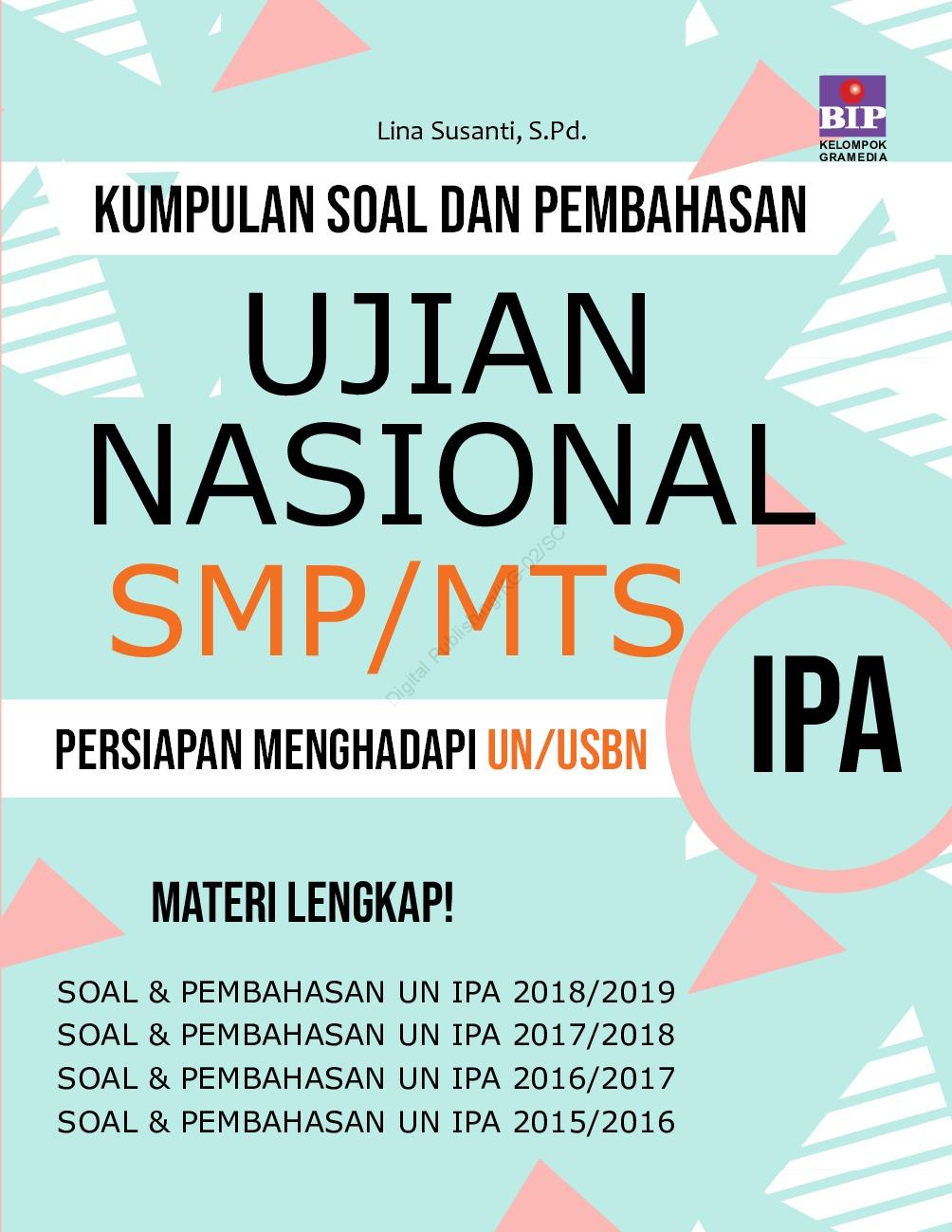 Kumpulan Soal Dan Pembahasan Un Ipa Smp Mts Book By Lina Susanti S Pd Gramedia Digital