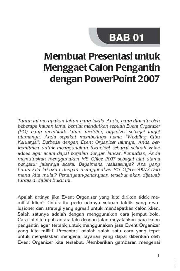 Ms Office 2007 Untuk Event Organizer Book By Jubilee