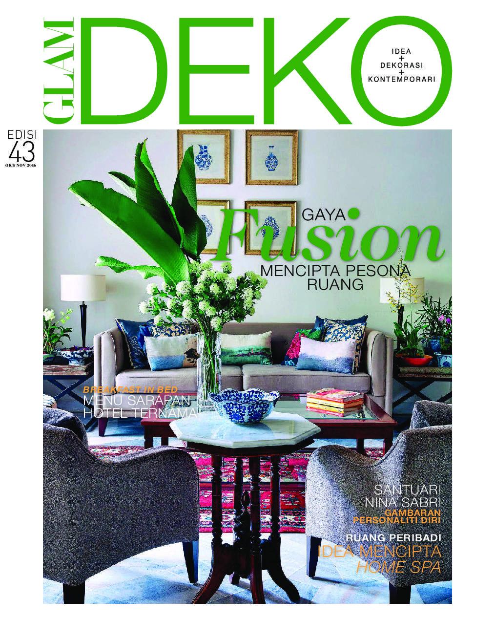 Deko Magazine glam deko magazine october november 2016 gramedia digital