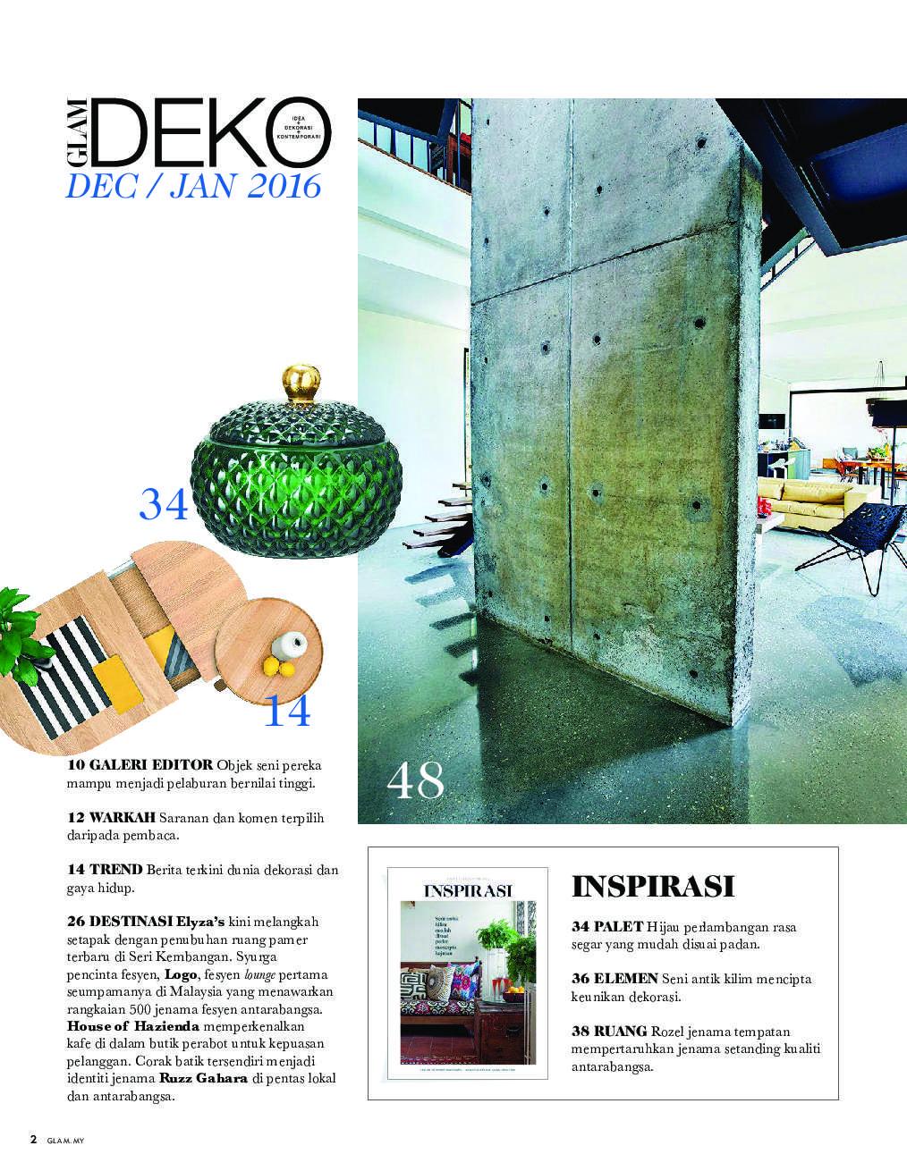 Glam Deko Magazine December January 2017 Gramedia Digital