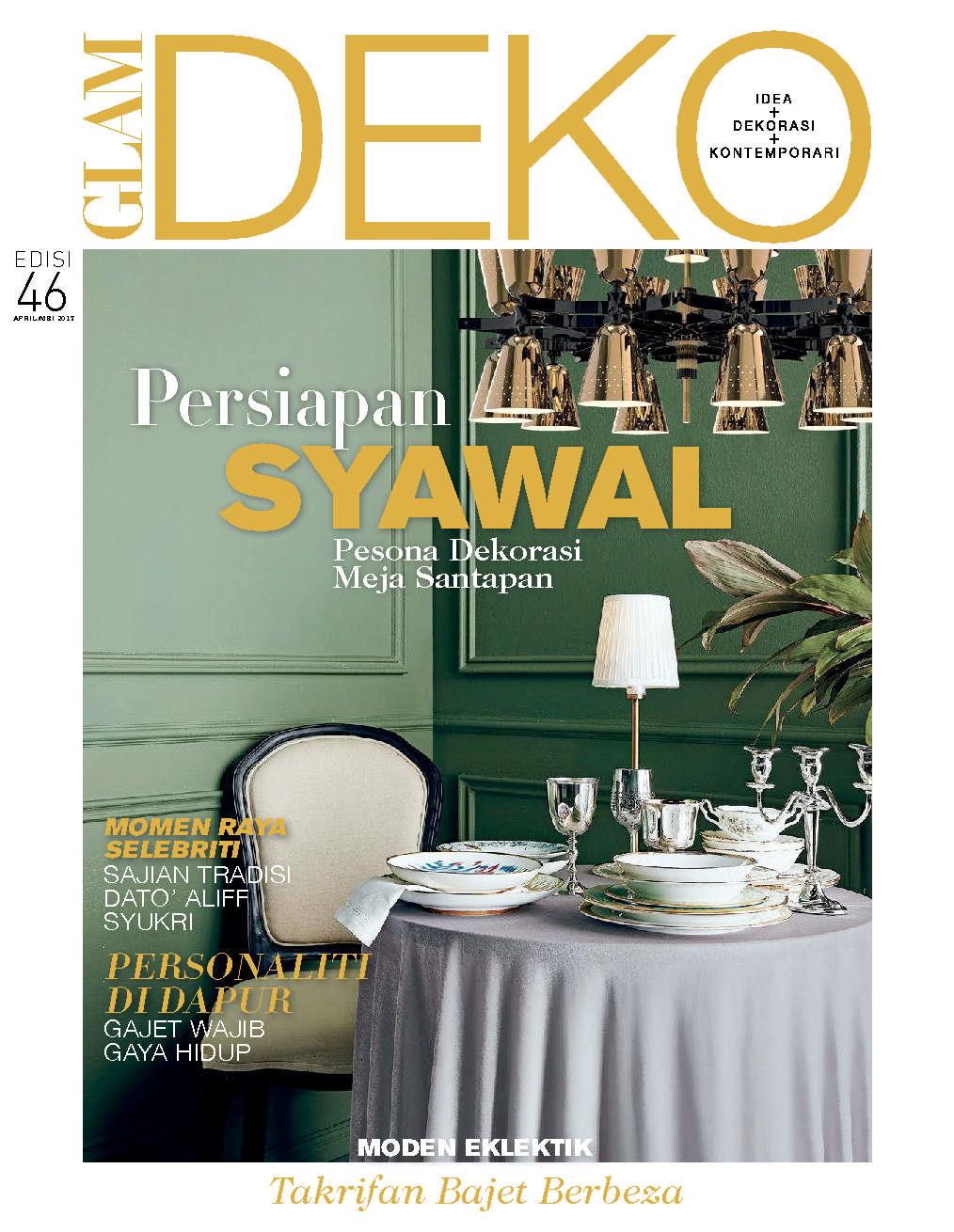 Glam deko magazine april 2017 gramedia digital for Deko magazin