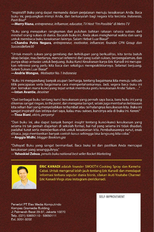 Jual Buku Kunci Kesuksesan Gambar Diri Oleh Eric Kanadi Gramedia Digital Indonesia