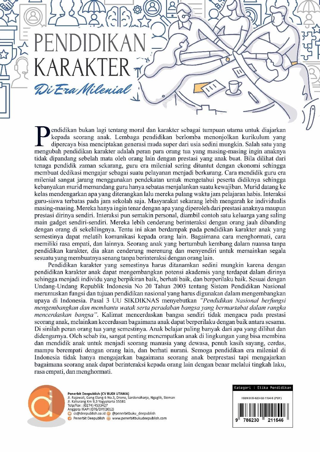 Pendidikan Karakter Di Era Milenial Book By Adi Suprayitno Wahid Wahyudi Gramedia Digital