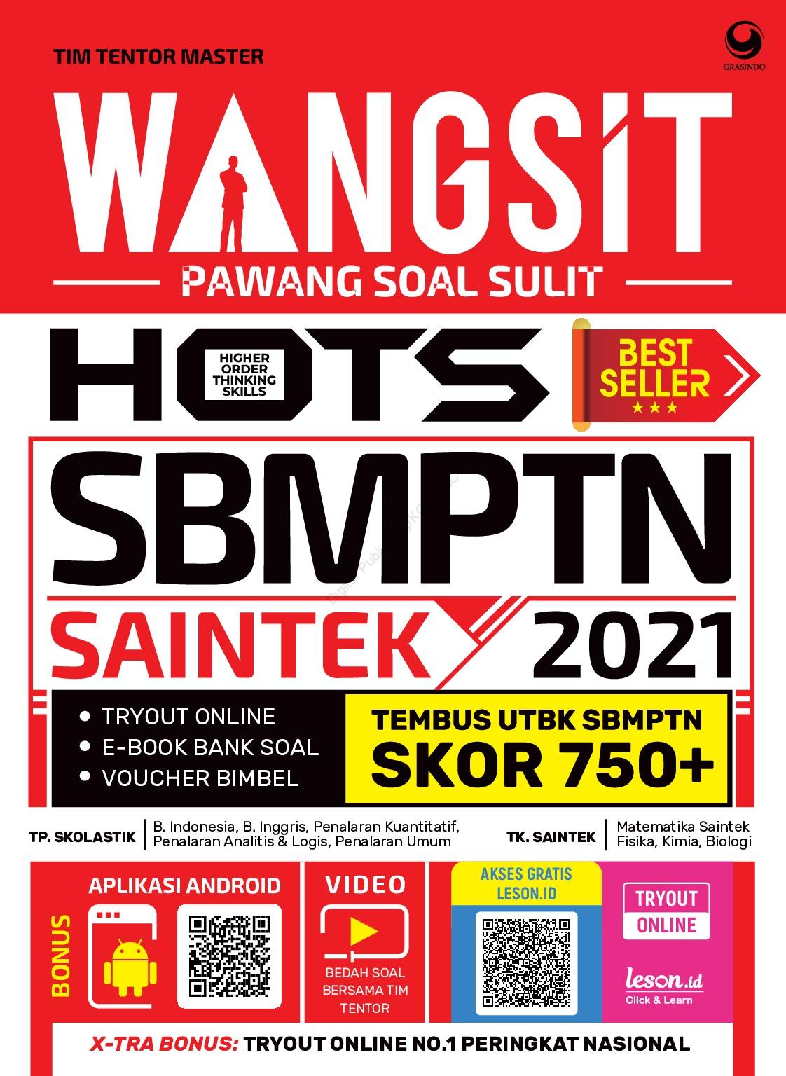 Jual Buku Wangsit Pawang Soal Sulit Hots Utbk Sbmptn Saintek 2021 Oleh Tim Tentor Master Gramedia Digital Indonesia