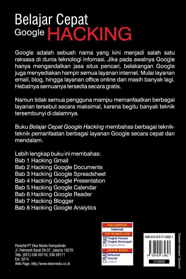 Jual Buku Belajar Cepat Google Hacking oleh Wahana Komputer