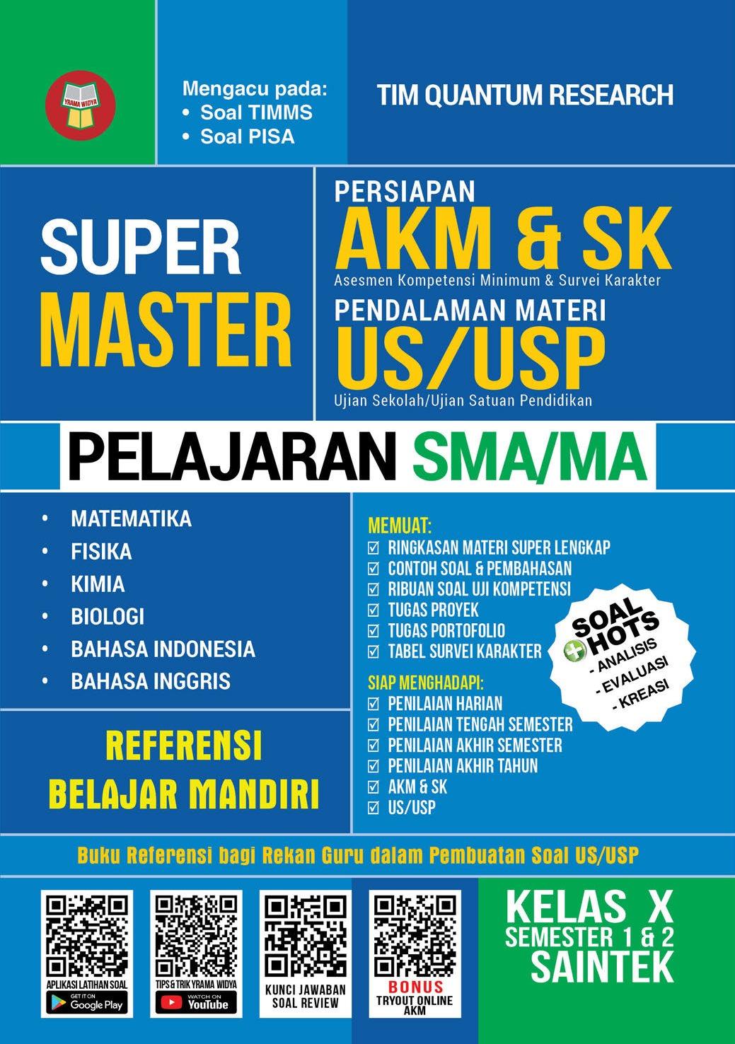 Super Master Persiapan Akm Dan Sk Pendalaman Materi Us Usp Pelajaran Sma Ma Kelas X Saintek Book By Tim Quantum Research Gramedia Digital