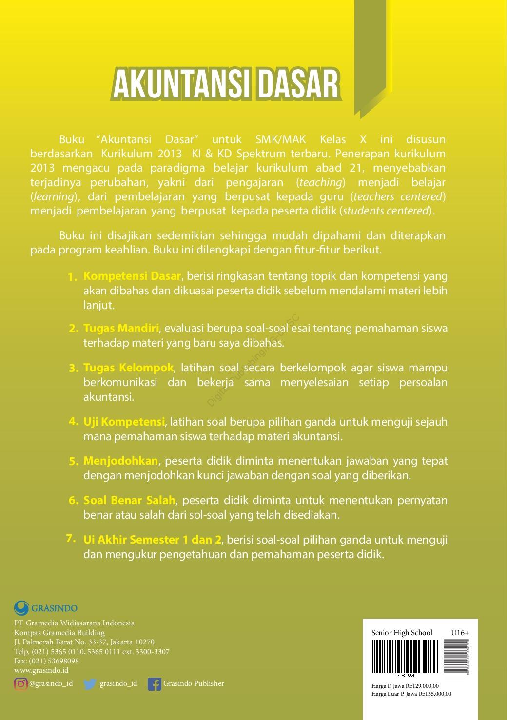 Jual Buku Akuntansi Dasar Untuk Smk Mak Kelas X Oleh Sri Hartati S Pd M Pd Dan Dra Yatimatun Nafi Ah M M Gramedia Digital Indonesia