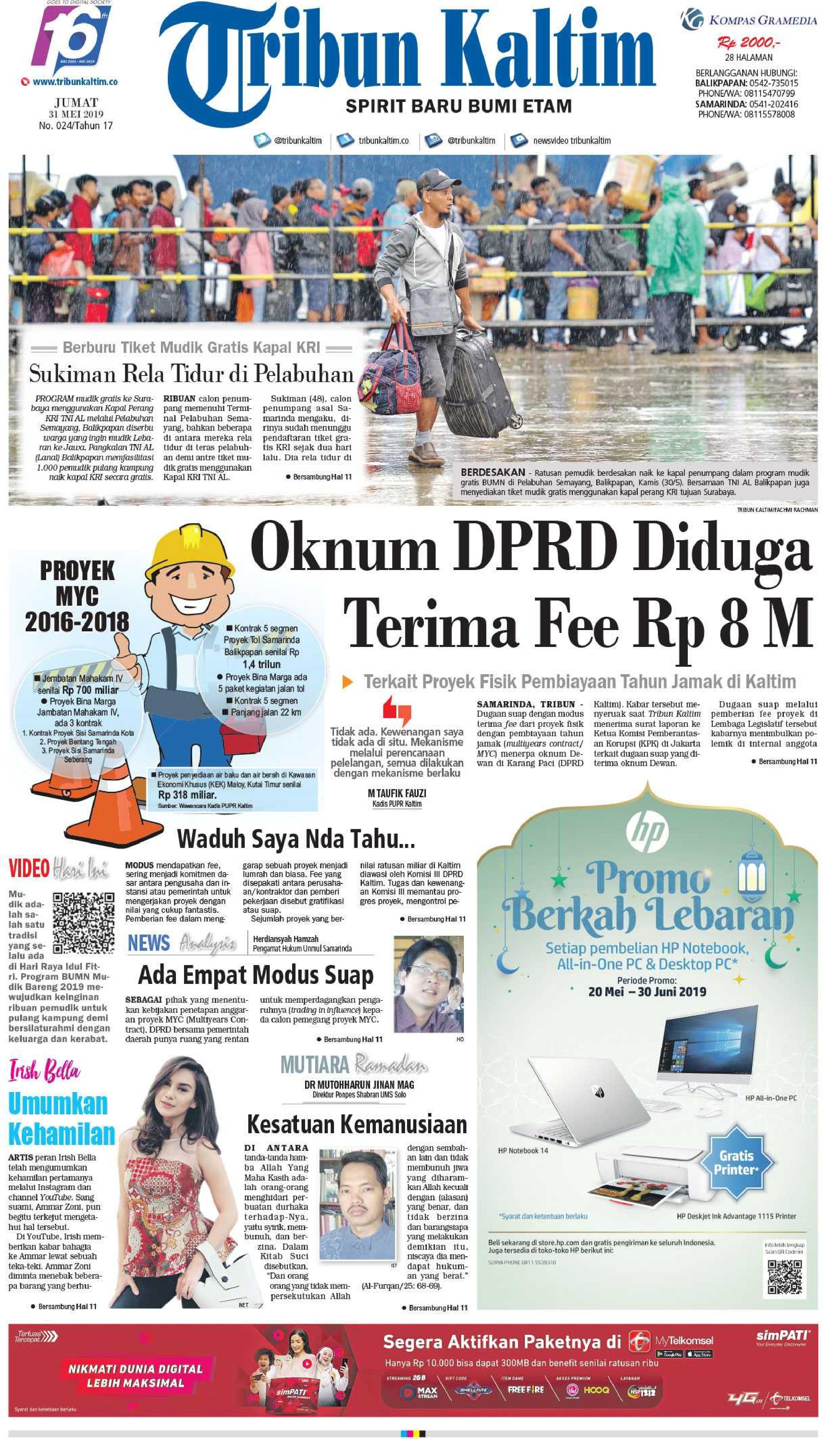 Tribun Kaltim Newspaper 31 May 2019 - Gramedia Digital