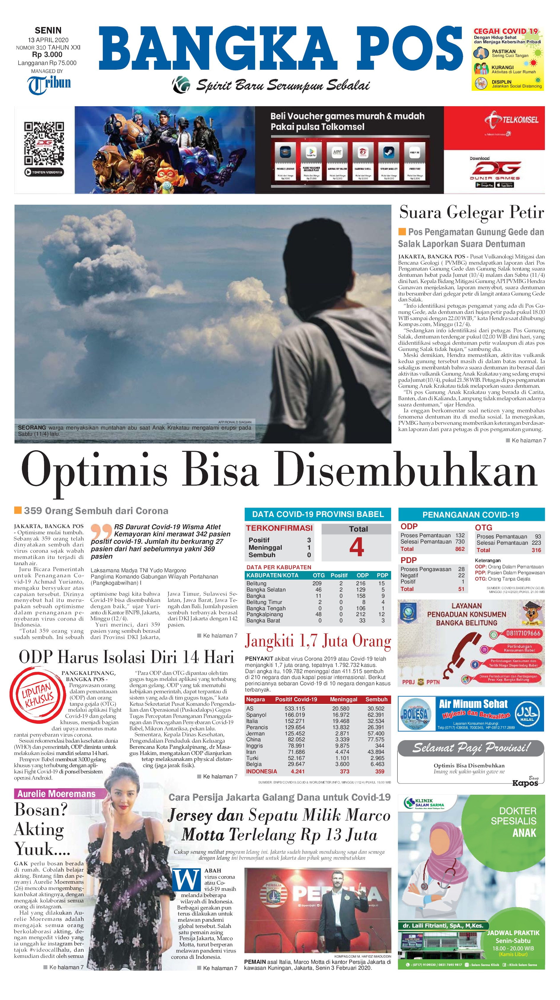 Bangka Pos Newspaper 13 April 2020 Gramedia Digital