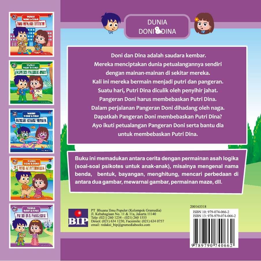 Seri Dunia Doni Dan Dina Putri Dan Pangeran Book By Tedi Siswoko