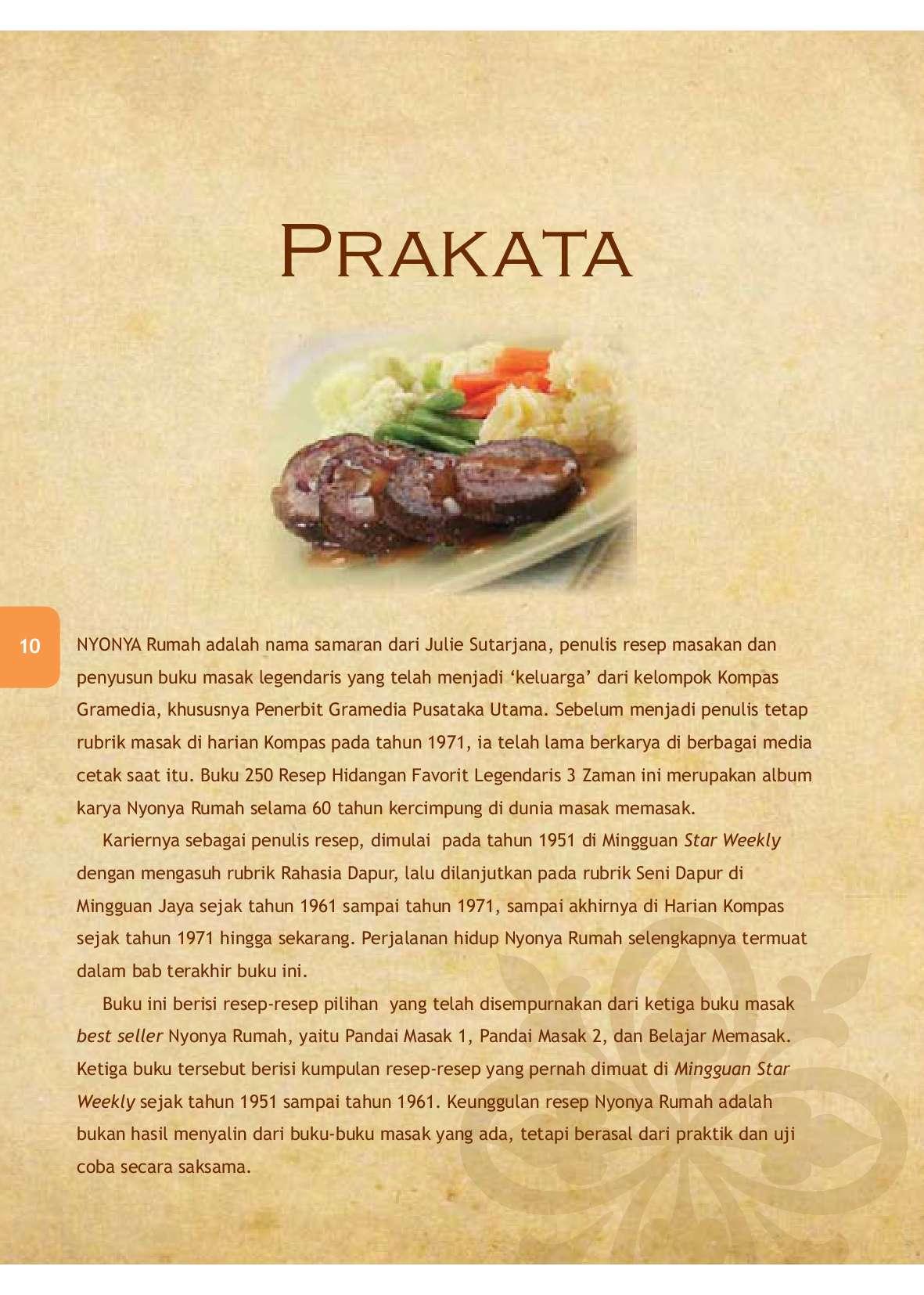 Jual Buku 250 Resep Hidangan Pilihan Nyonya Rumah 60 Tahun Berkarya Oleh Nyonya Rumah Gramedia Digital Indonesia