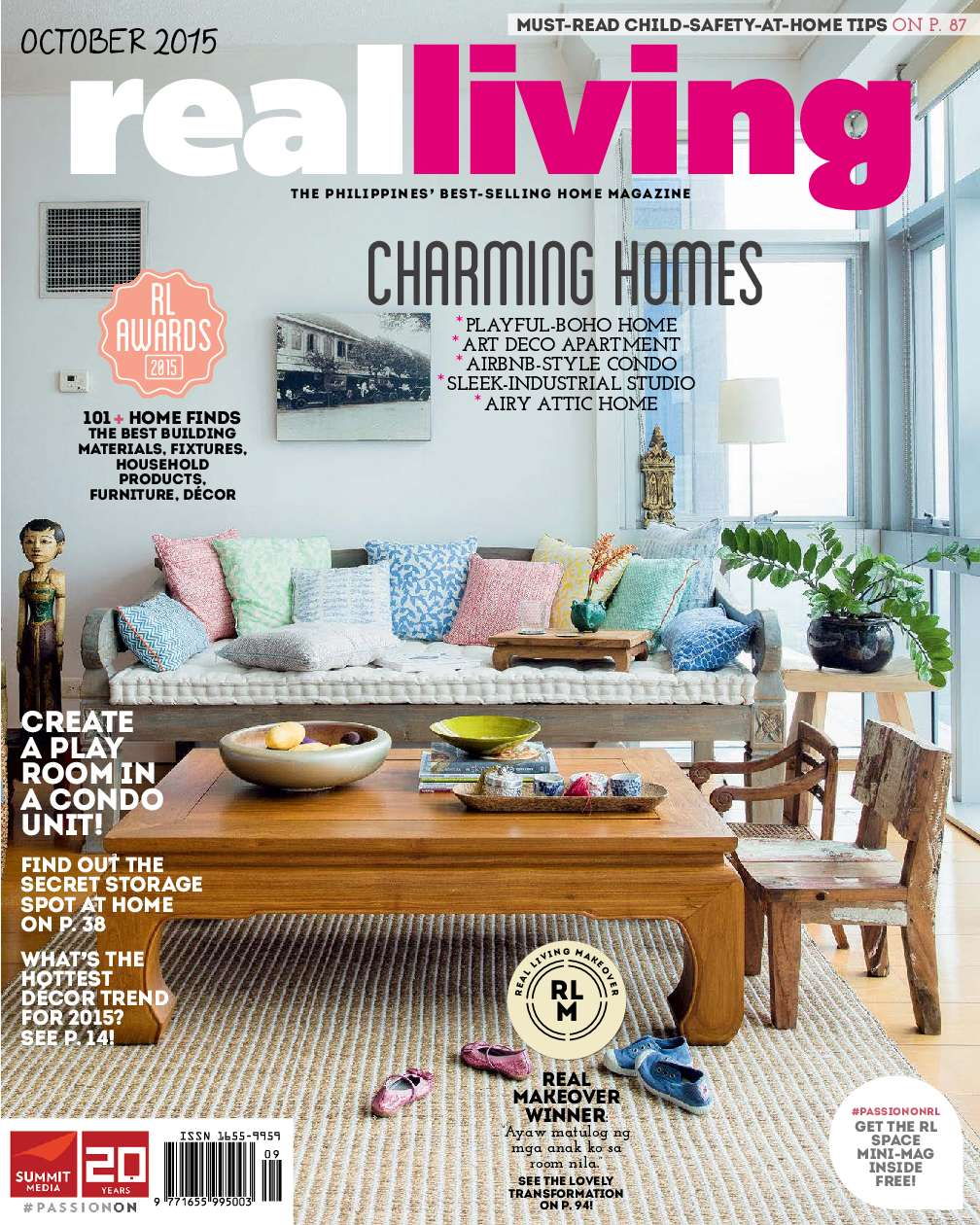 Country Home Decor Magazines: Real Living Philippines Magazine October 2015