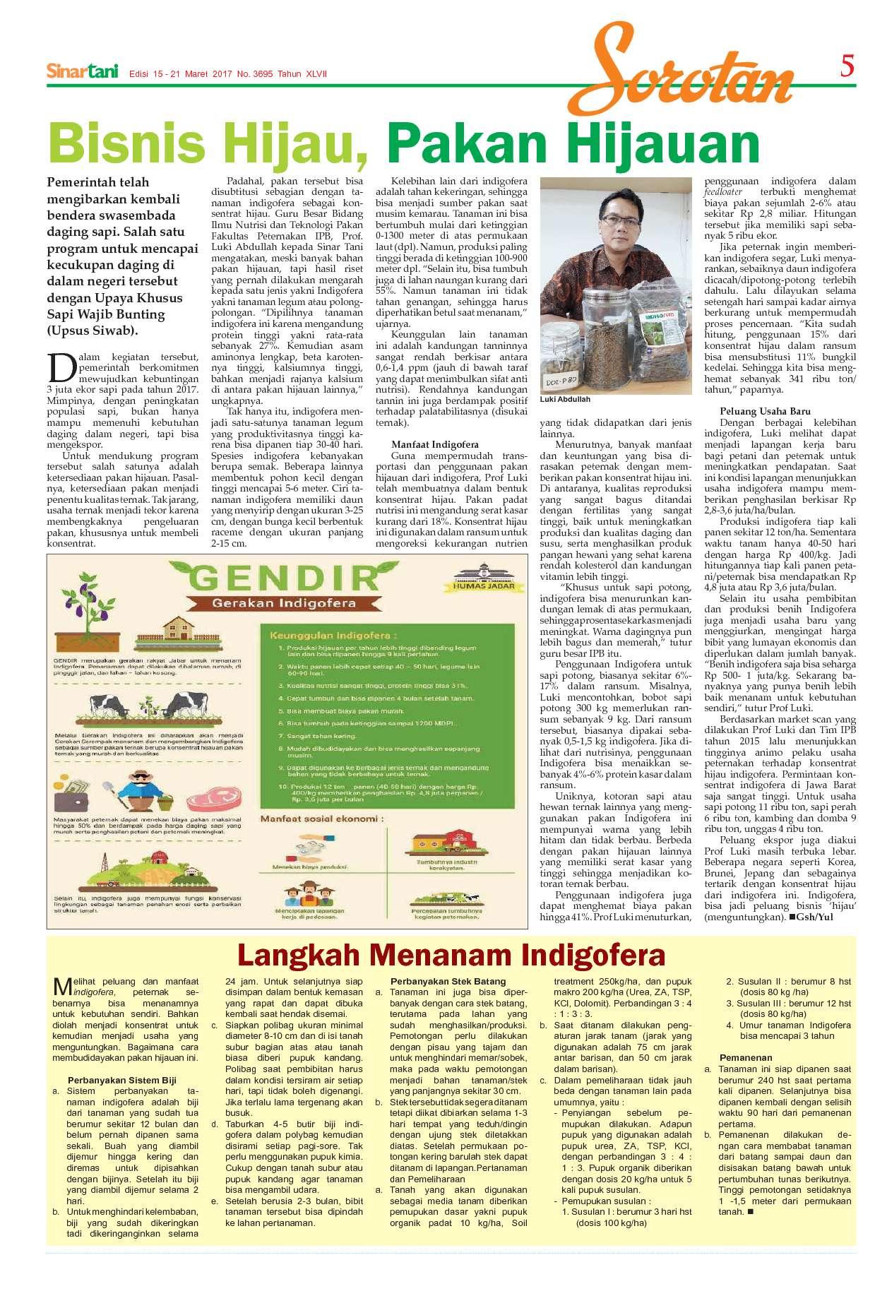 Sinar Tani Magazine Ed 3695 March 2017 Gramedia Digital