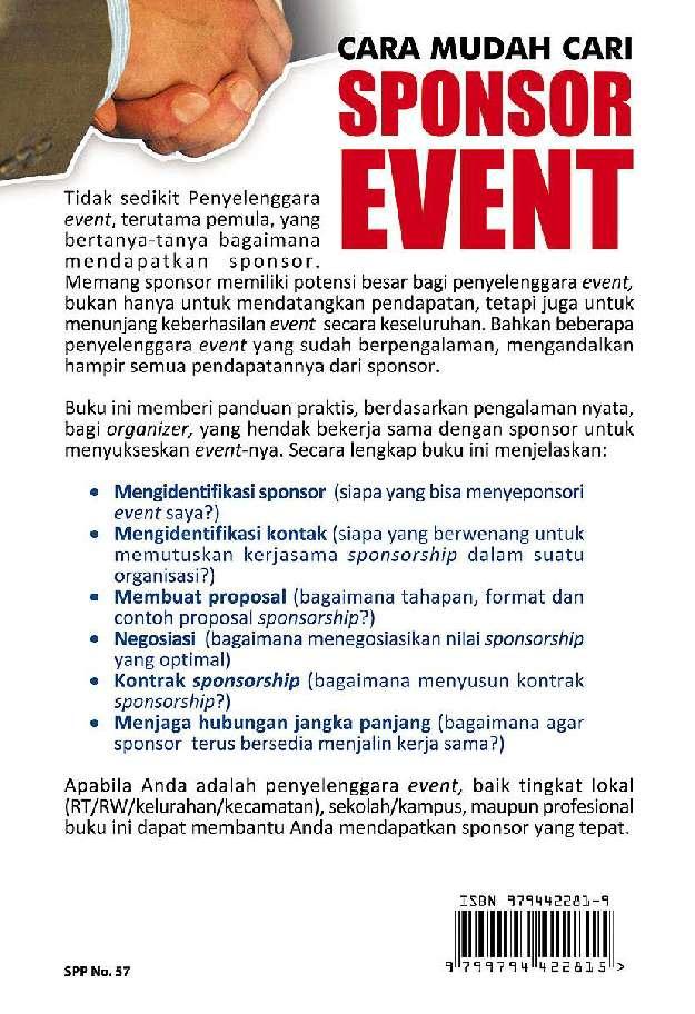 Jual Buku Cara Mudah Cari Sponsor Event Oleh Sonta Frisca Manalu