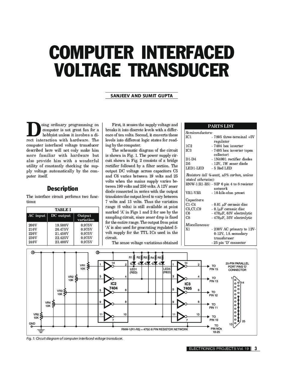 Electronics Projects Vol 19 Book By Efy Enterprises Pvt Ltd Electronic Project Circuit Diagram 7