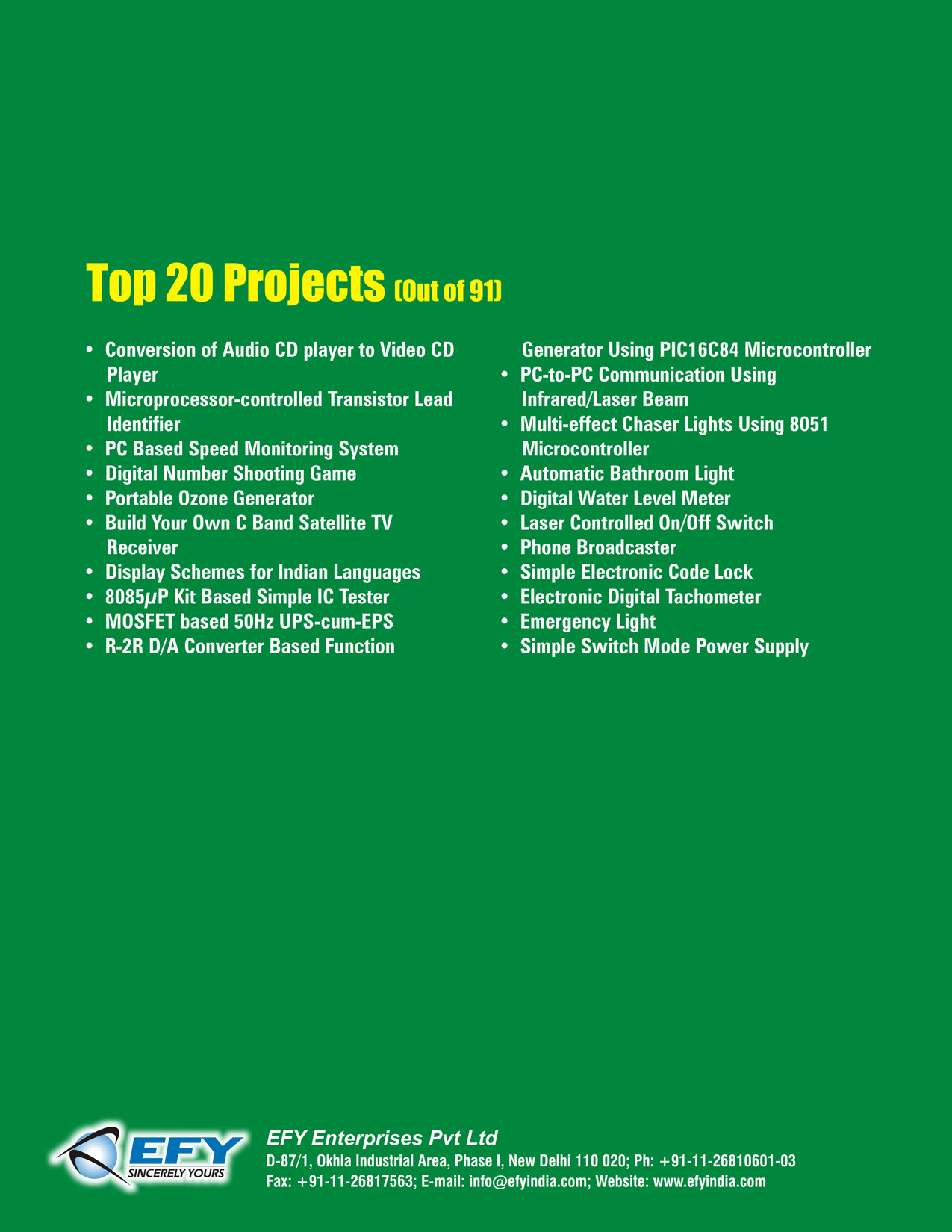 Electronics Projects Vol 21 Book By Efy Enterprises Pvt Ltd Non Contact Tachometer Circuit Using 8051 Microcontroller Eeweb 7