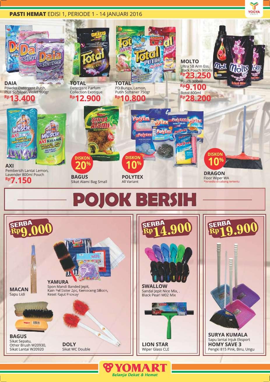 Jual Majalah Pasti Hemat Yomart Ed 01 Januari 2016 Gramedia Daia Softergent Violet 3