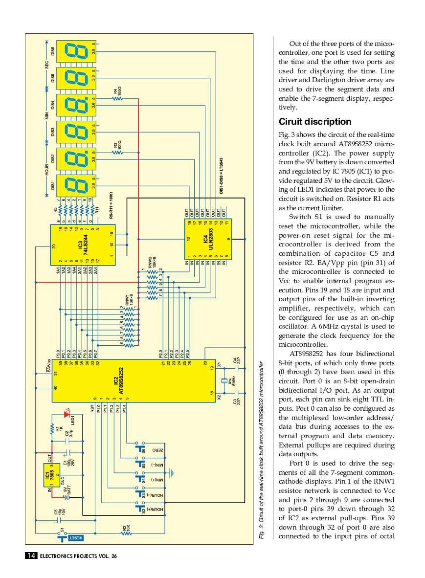 Electronics Projects Vol 26 Book By Efy Enterprises Pvt Ltd Digital Dice Circuit Electronic Circuits 7
