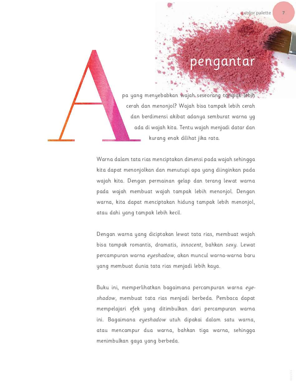 Color Palette How To Mix And Do Make Up Color Book By Reni Kusumawardani