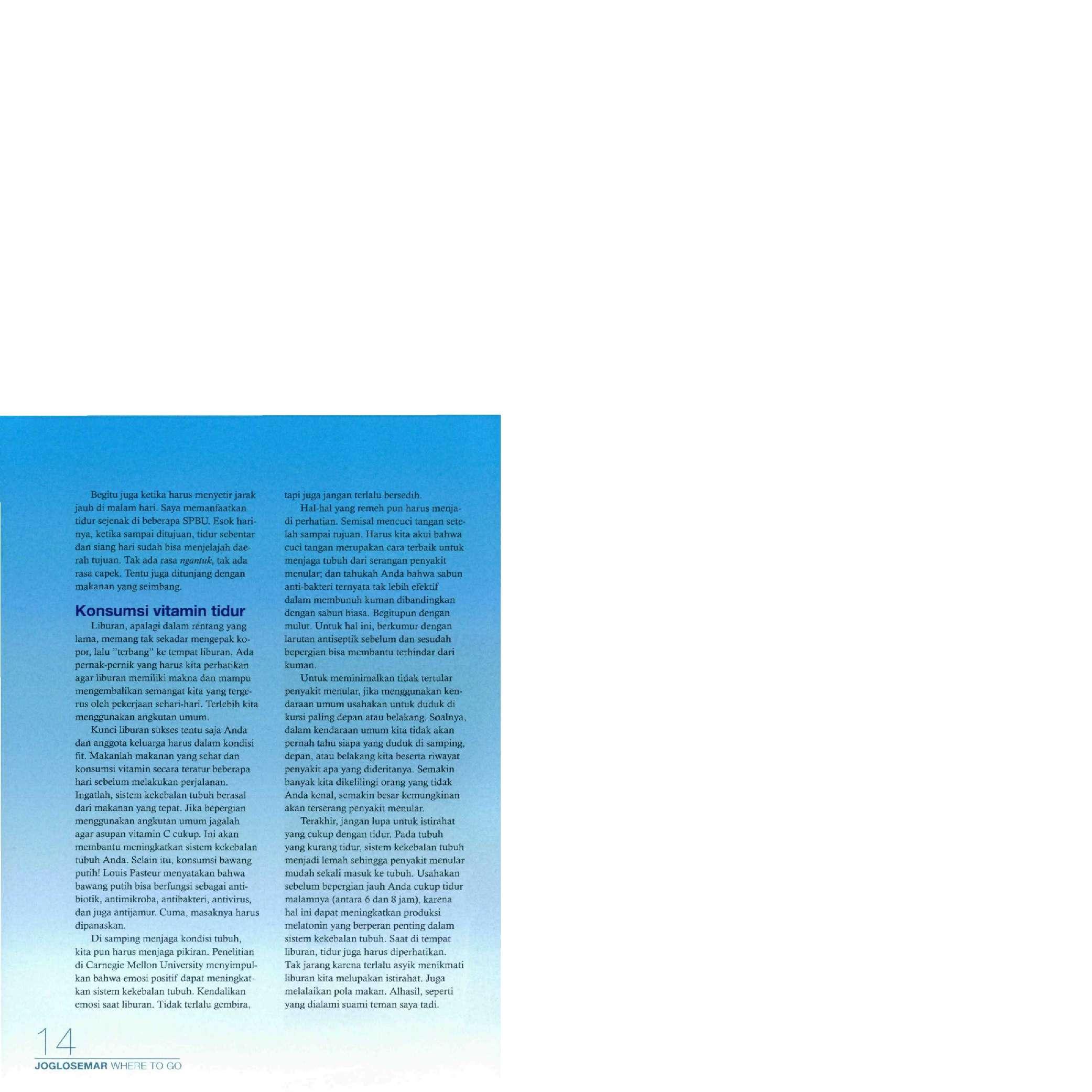 Jual Buku Where To Go Joglosemar (2011) oleh Redaksi Intisari - Gramedia Digital Indonesia