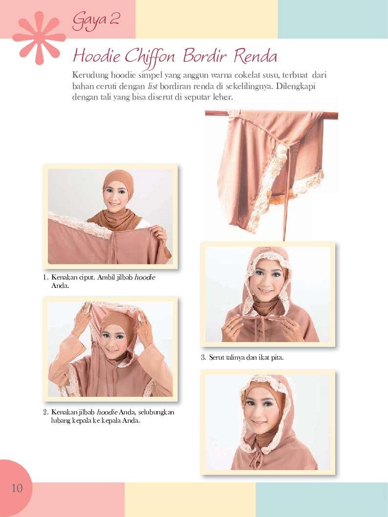 Jual Buku 35 Gaya Kerudung Hoodie Cara Membuat Aksesori Jilbab