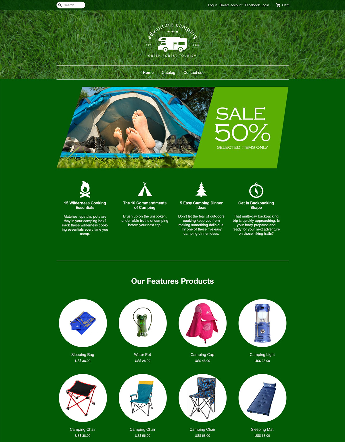 EasyStore theme | Adventure Camping