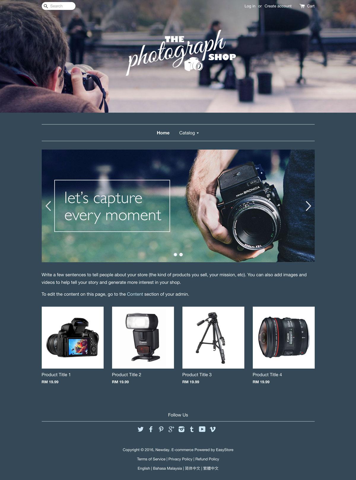 EasyStore theme | Aperture