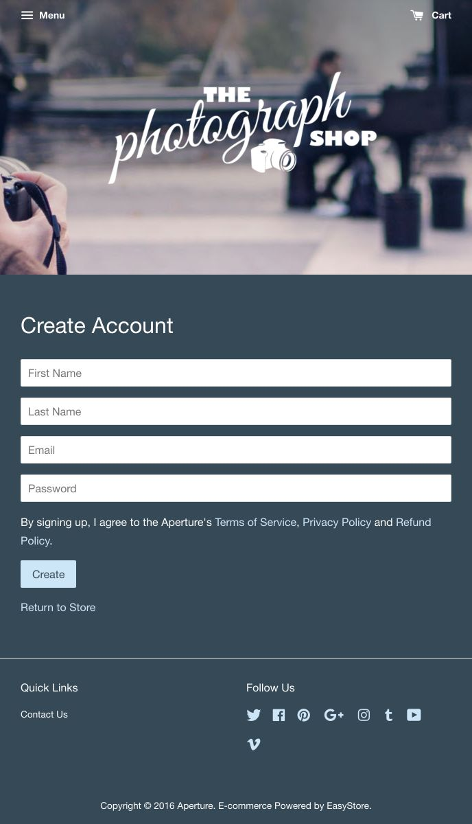 Aperture | EasyStore