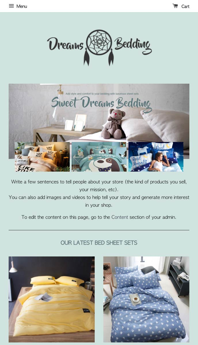 Dreams Bedding | EasyStore