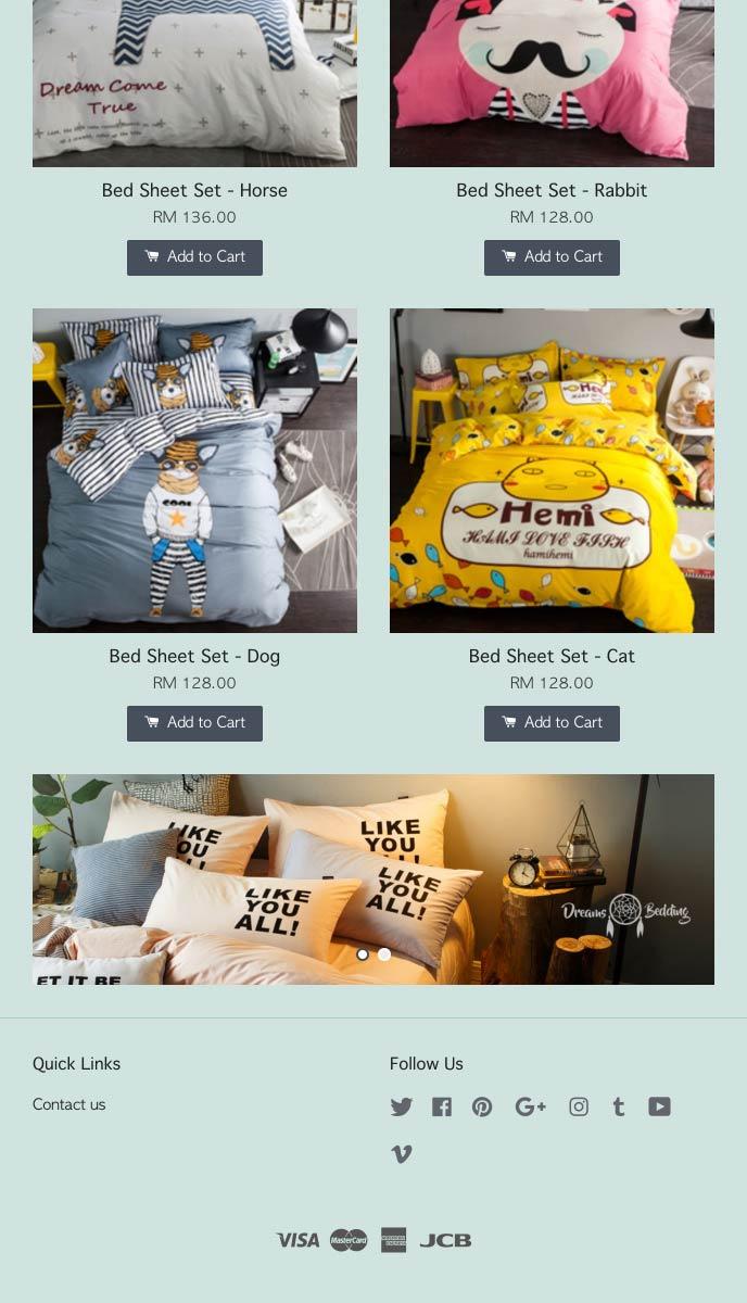 Dreams Bedding   EasyStore