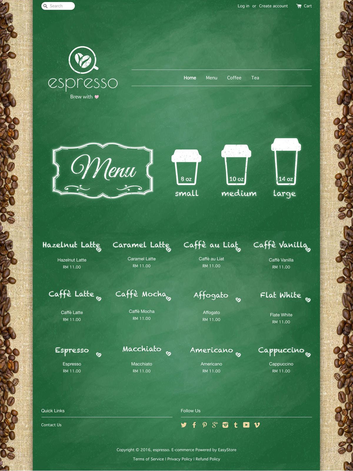 EasyStore theme | Espresso