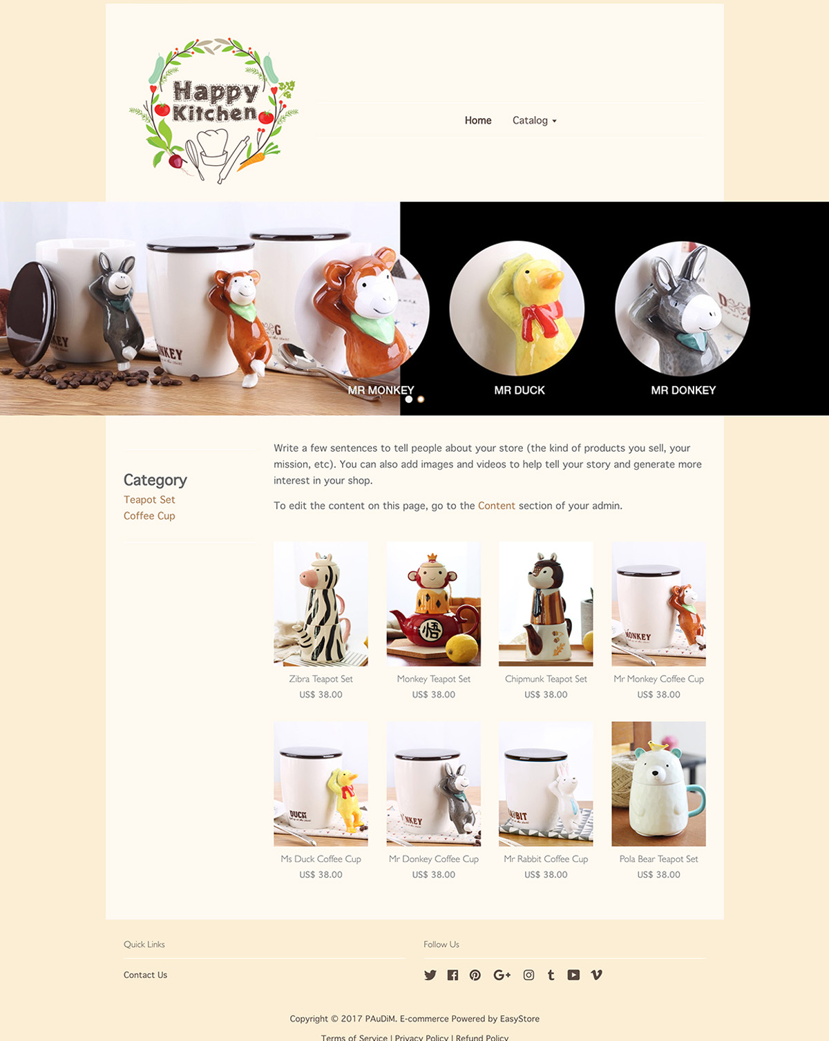 EasyStore theme | Happy Kitchen