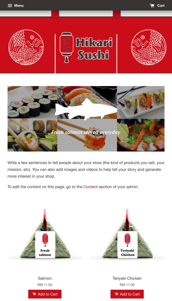EasyStore theme | Hikari