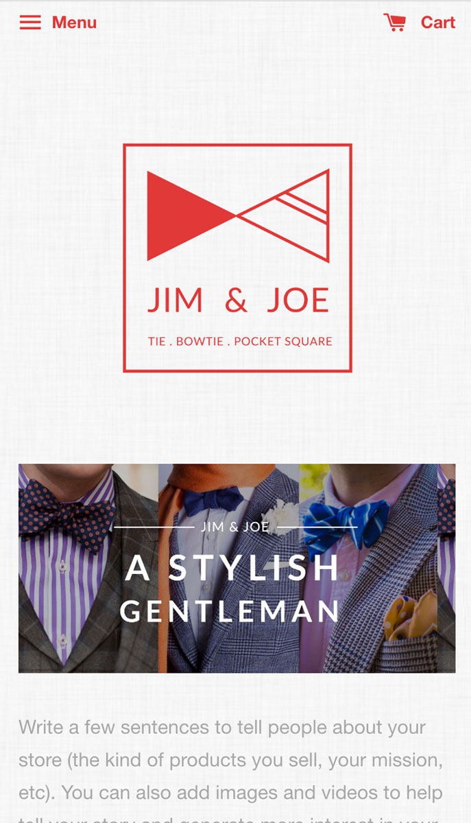EasyStore theme | Jim & Joe