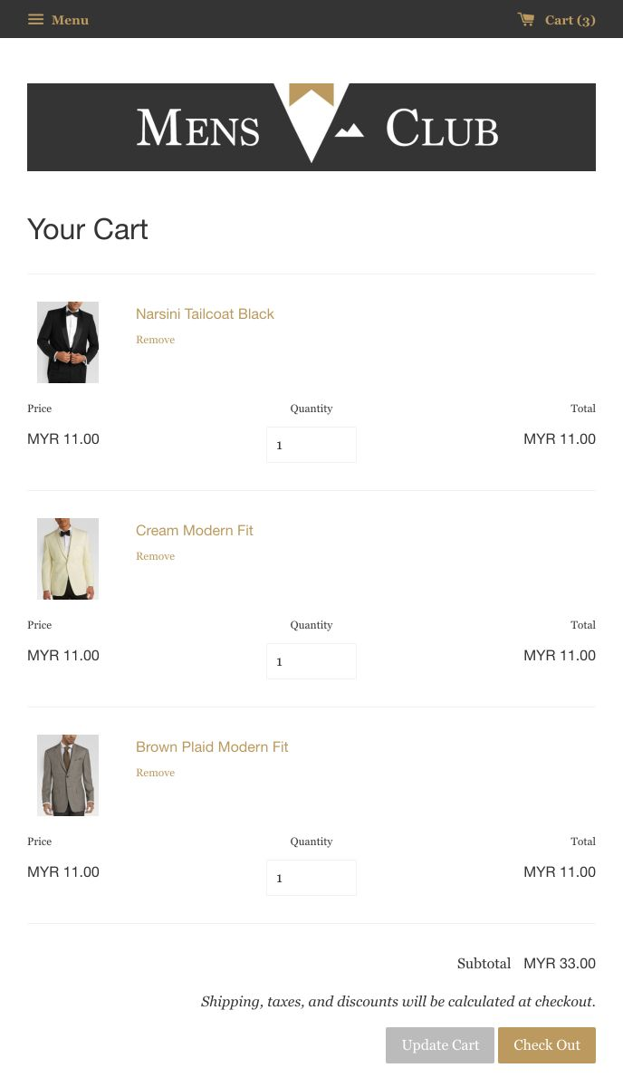 MensClub | EasyStore
