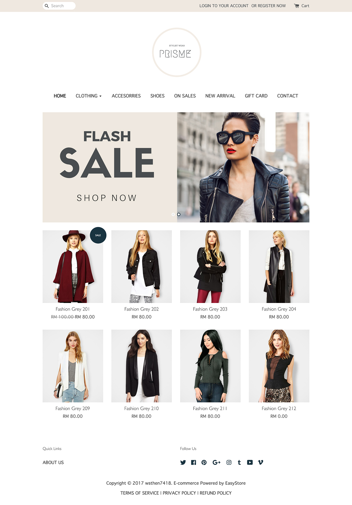 EasyStore theme | Prisme