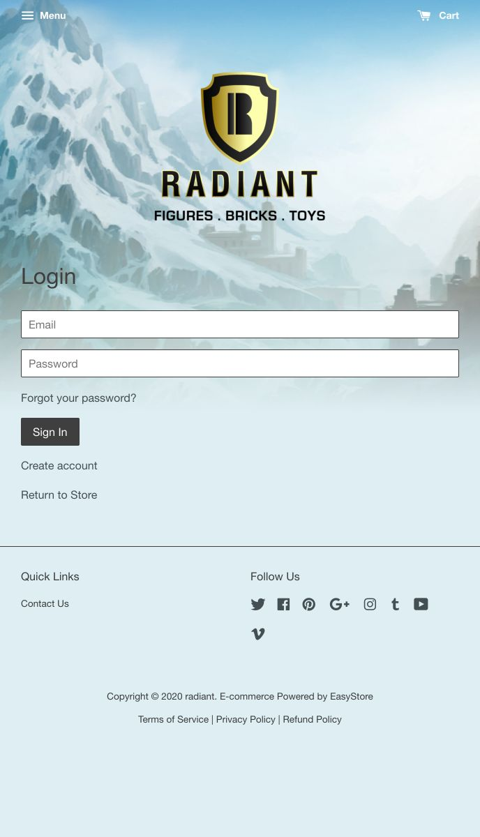 Radiant | EasyStore
