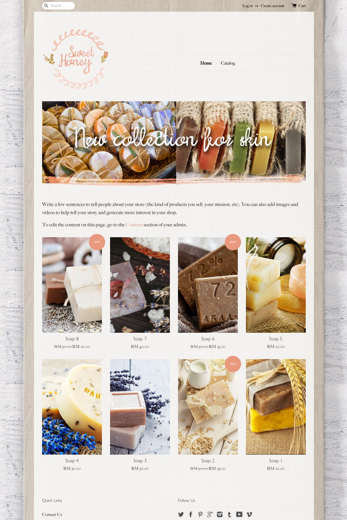 EasyStore theme | Sweet Honey
