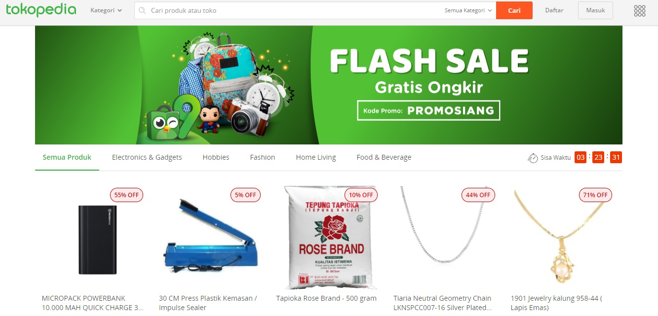 Flash sale Tokopedia (tokopedia.com)