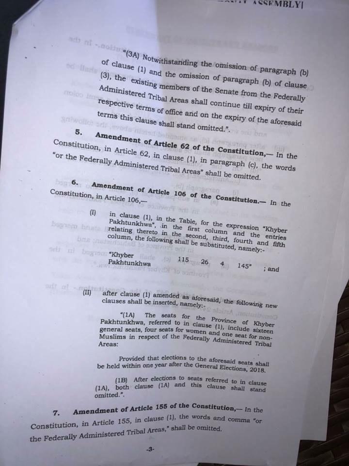 National Assembly passes KP-FATA merger bill