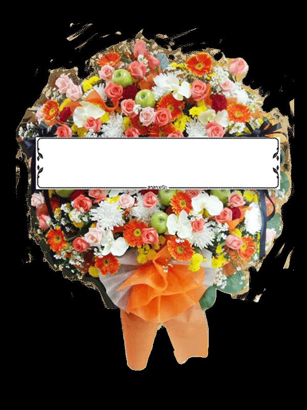 พวงหรีดดอกไม้สด