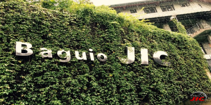 JIC語言學校 校門口造景綠化牆