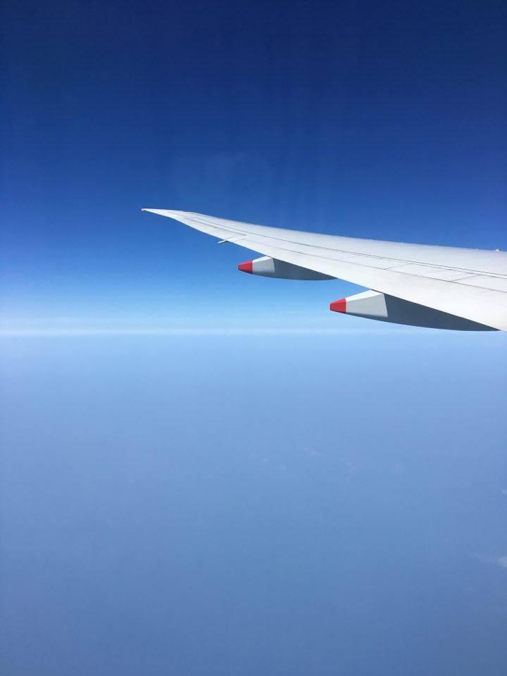 First English 接機服務 - 飛機上風景