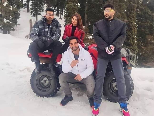 Image result for badshah with shegnaaz gill