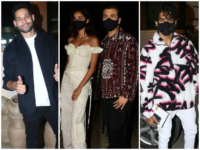 Siddhant Chaturvedi, Karan Johar, Ananya Panday and Ishaan Khatter attend Deepika  Padukone's birthday dinner