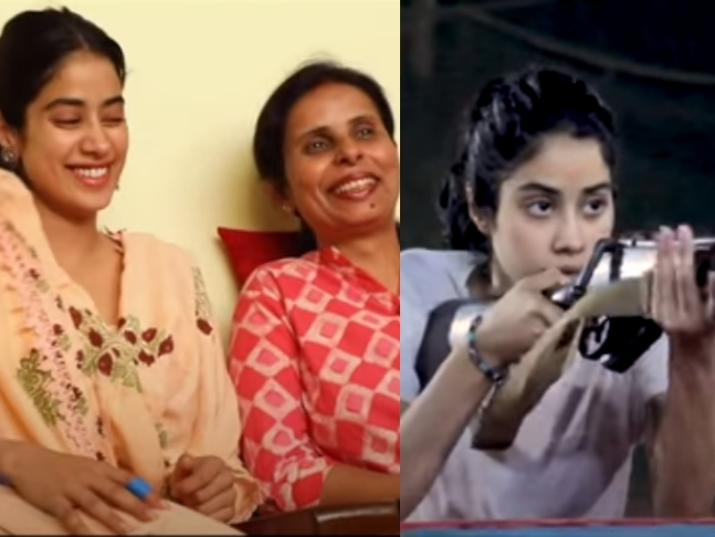 From Real To Reel Take A Look At How Janhvi Kapoor Transformed Into Gunjan Saxena The Kargil Girl In This Bts Video